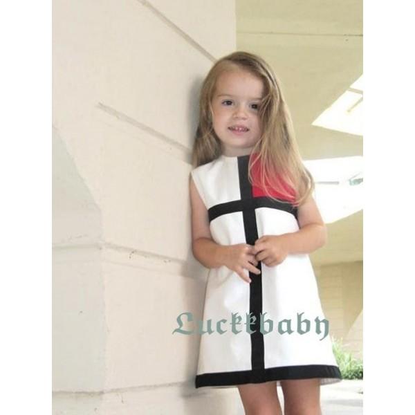 1e6cfc8bddc03f0 Летнее классическое платье для девочки